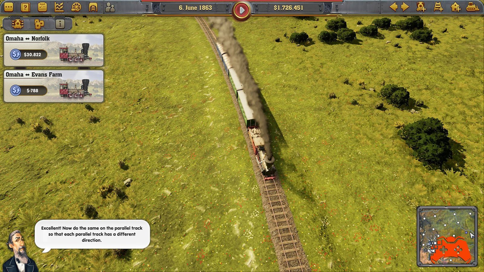 Railway Empire: Screenshot