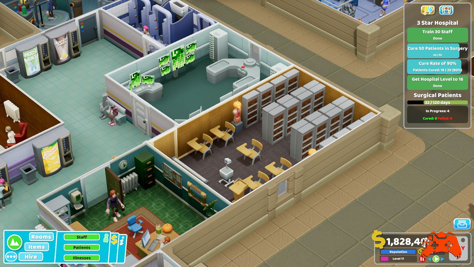 Two Point Hospital: Screenshot