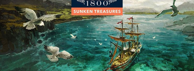 Anno1800: DLC Sunken Treasures Keyart Logo
