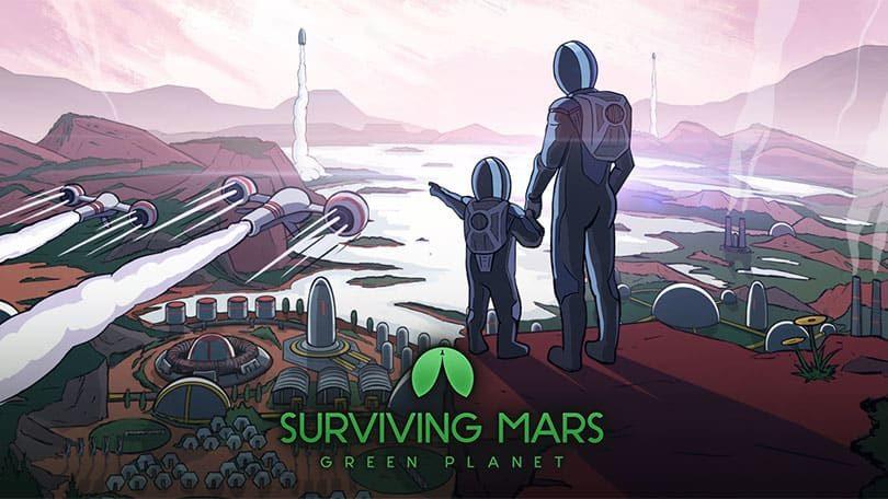 Surviving Mars: Green Planet Key Art