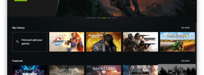 Nvidia Geforce Now: Ui